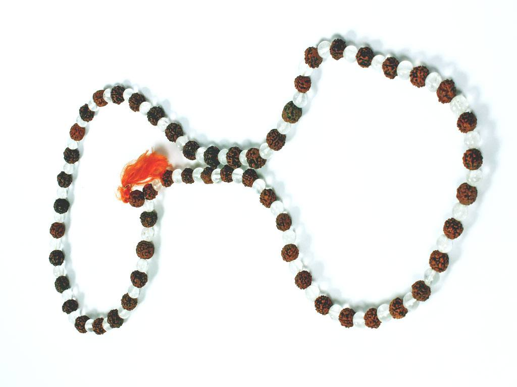 Item 51, The Rudraksh Crystal Prayer Beads