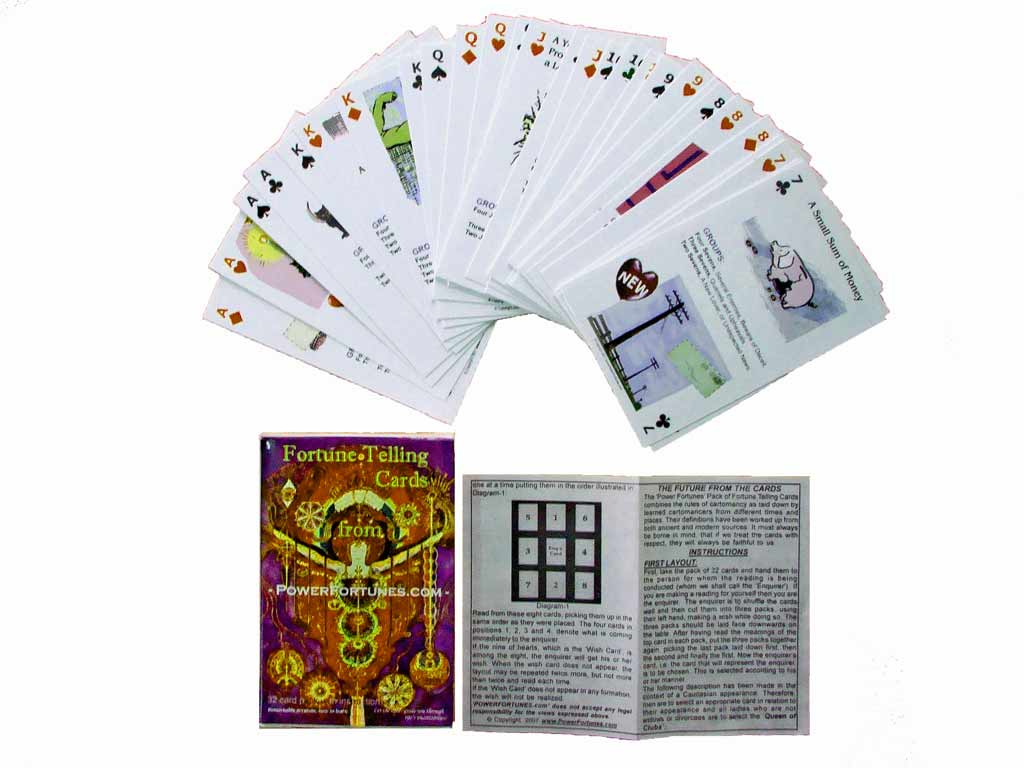 Tarot derived fortune telling cards. Let them guide you through lifes uncertainties.