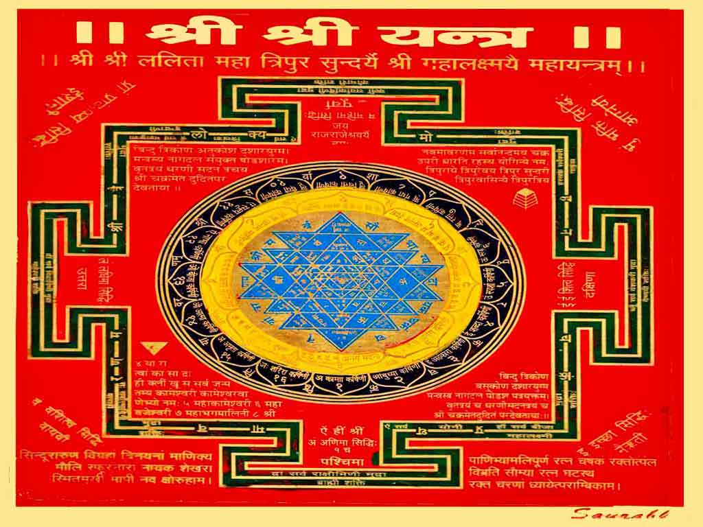 Astrological amulets, lucky talismans, energized Shree Yantra